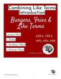 Like Terms: Intro Lesson Plan + Slides + Student Work + An