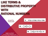 Like Terms and Distributive Property with Rational Numbers