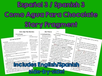 Like Water for Chocolate (Como Agua Para Choc) Spanish Story & Side-by-Side