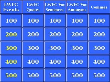 Like Water for Chocolate End of Book Jeopardy Game with Vocabulary