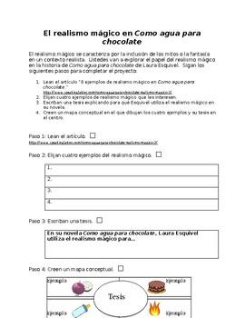 como agua para chocolate pdf spanish