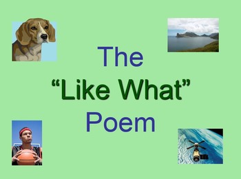 """""""Like What"""" Poetry"""