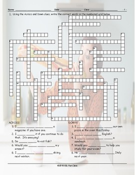 Like-Would Like Crossword Puzzle