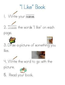 Like sight word mini book