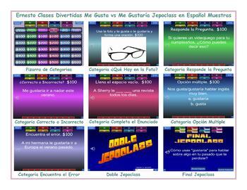 Like vs Would Like Spanish Jeopardy Game