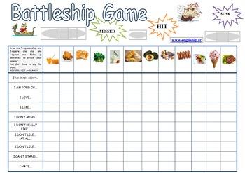 Likes and Dislikes - Battleship Game