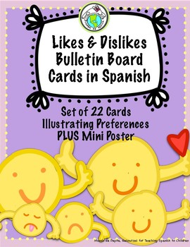Likes and Dislikes Preferences Bulletin Board Cards in Spa