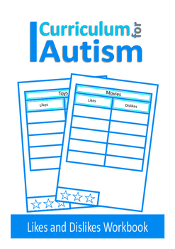 Autism Social Skills Worksheets, Likes and Dislikes, Speech Therapy