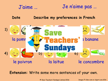Likes & dislikes in French Lesson plan, PowerPoint (with audio) and More ...