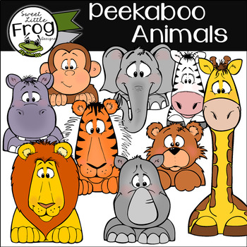 Peekaboo Animals: Clip Art for Borders and Edges