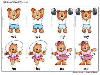 Li'l Bears' Word Workout
