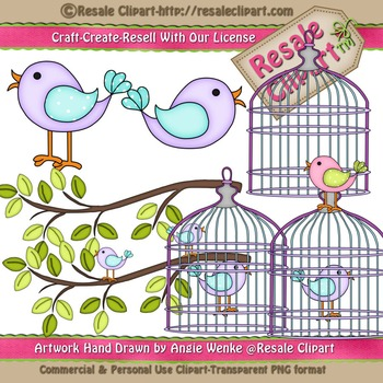 Lil Birdy 6 ClipArt - Commercial Use