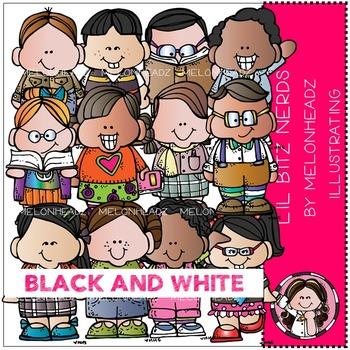 Lil Bitz Nerds by Melonheadz BLACK AND WHITE