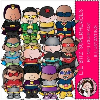 Lil Bitz Superheroes clip art - by Melonheadz