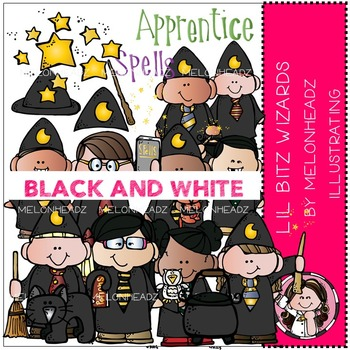 Lil Bitz Wizards by Melonheadz BLACK AND WHITE