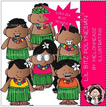 Lil Bitz clip art - Polynesian - Mini - Melonheadz Clipart