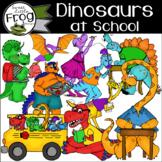 Dinosaurs at School Clip Art