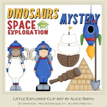Lil Explorer Clip Art Graphics by Alice Smith