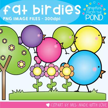 Fat Birdies Clipart