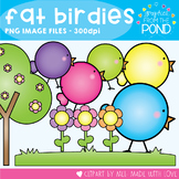 Fat Birdies Clipart