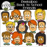 Peekaboo School Friends Clip Art