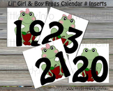 Lil' Girl & Boy Frogs Number Inserts