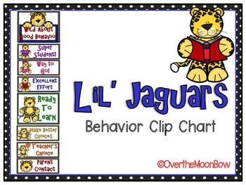 Lil' Jaguars Themed Behavior Clip Chart