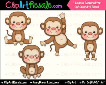 Lil Monkey Boys ClipArt - Commercial Use