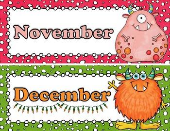 Lil Monster Calendar Pieces