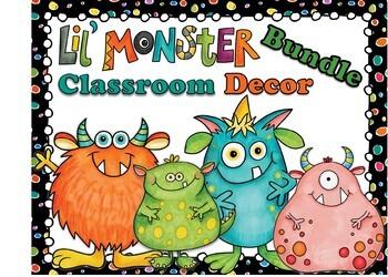 Lil Monster Classroom Decor Bundle