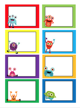 Lil' Monster NO HASSLE Peel and Stick Cubby Labels!