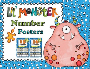 Lil Monster Number Posters