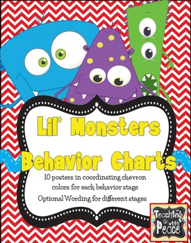 Lil' Monsters Behavior Charting Posters