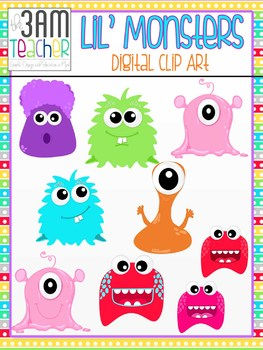 Lil' Monsters Clip Art / Graphics Set