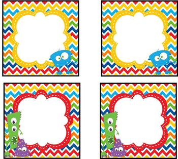 Lil' Monsters Labels *editable*