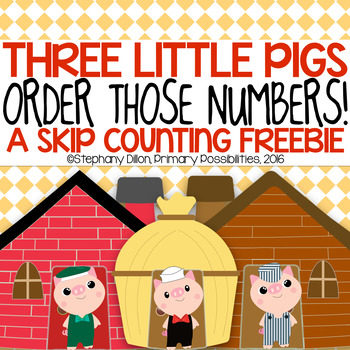 Lil' Pigs Ordering Numbers by 2, 5, and 10 { Freebie }