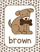 Lil' Puppy Dog Theme Color Posters