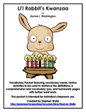 Li'l Rabbit's Kwanzaa by  Donna L. Washington - Vocabulary Word Work