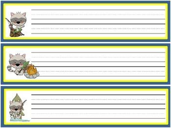 Lil' Raccoon Name Plates- Freebie