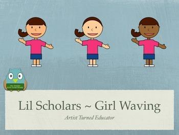 Lil Scholars ~ Girl Waving Freebie