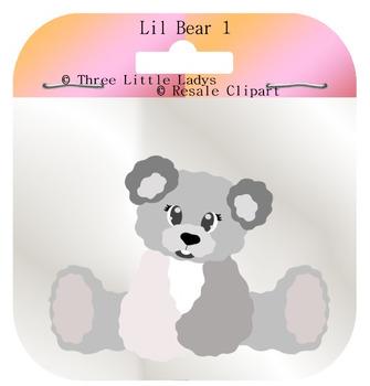 Lil Teddy bear template 1