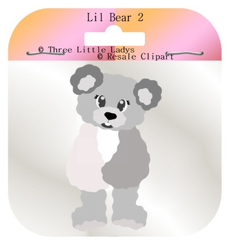 Lil Teddy bear template 2