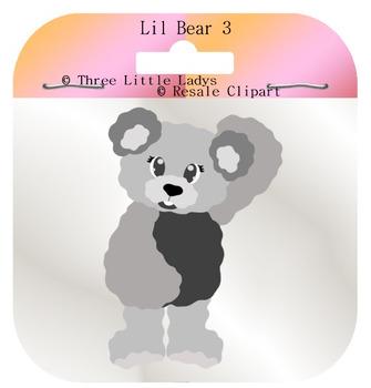 Lil Teddy bear template 3