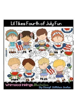 Lil Tikes Fourth of July Fun Clipart Collection