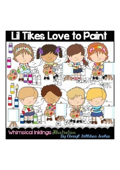 Lil Tikes Love to Paint Clipart Collection
