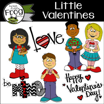 Little Valentines Clip Art Set