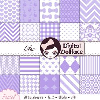 Digital Paper -Lilac