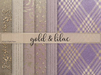Lilac & Gold Textures