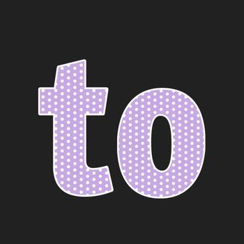 Lilac Polka Dot Alphabet Clip Art + Numerals, Punctuation and Math Symbols