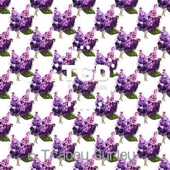 Lilac on White digital paper Printable Tracey Gurley Designs